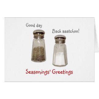Seasonings' Greetings Card