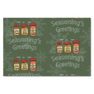 Seasoning's Greetings Funny Holiday Pun Tissue Paper