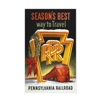 Season's Best Way to Travel Vintage Poster Canvas Print