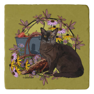 Seasons Cats - Autumn Garden Trivet