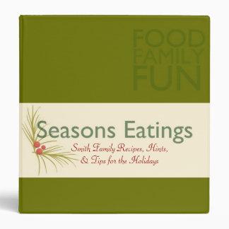 Seasons Eatings Vinyl Binders