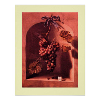 SEASON'S FRUITS -PROSPERITY pink antique red cream Posters