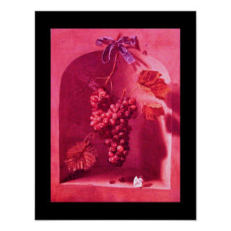 SEASON'S FRUITS -PROSPERITY pink red purple Posters