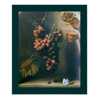 SEASON'S FRUITS -PROSPERITY yellow brown green Poster