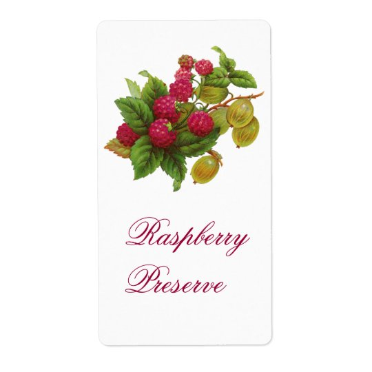 SEASON'S FRUITS / RASPBERRIES SHIPPING LABEL
