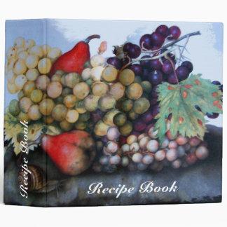SEASON'S FRUITS RECIPE BOOK VINYL BINDER