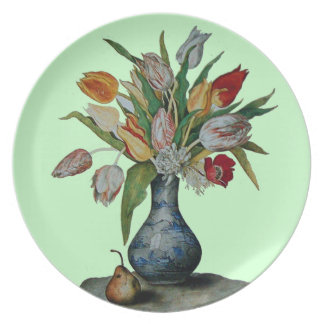 SEASON'S FRUITS / TULIPS PARTY PLATE