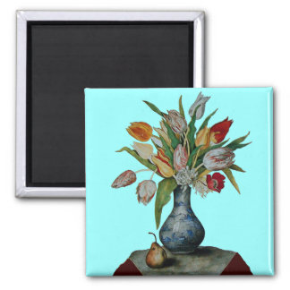 SEASON'S FRUITS - TULIPS SQUARE MAGNET