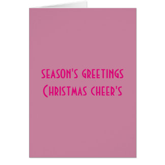 season's greeting christmas cheer's card