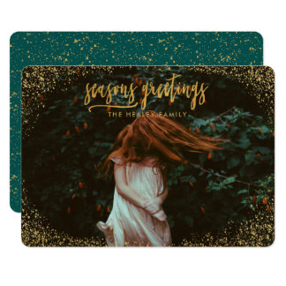 SEASONS GREETING (GOLD EFFECT) CARD