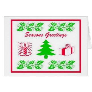 Seasons Greeting Note Card
