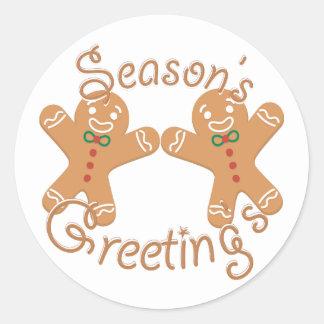 Seasons Greeting Round Sticker
