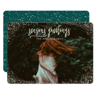 SEASONS GREETING (SILVER EFFECT) CARD