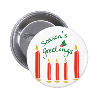 Seasons Greetings 2 Inch Round Button