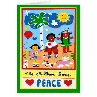 Season's Greetings about Peace and Love Card