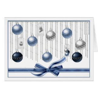 Season's Greetings - Baubles Greeting Card