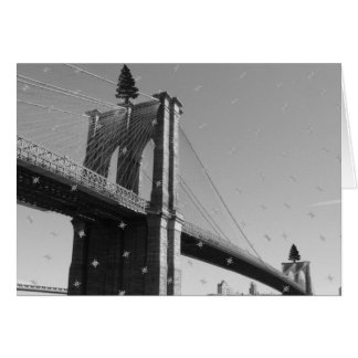 Seasons Greetings - Brooklyn Bridge & Snow/Trees Card