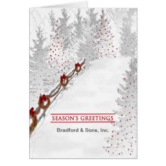 Season's Greetings - Business - Christmas Wreaths Card