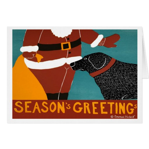 Seasons Greetings card Stephen Huneck