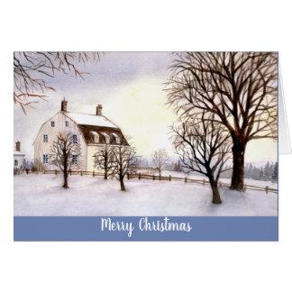 Season's Greetings Card Winter in New England