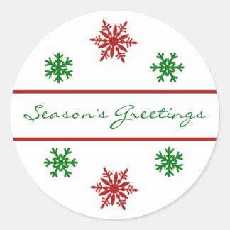 Season's Greetings Christmas Gift Tag