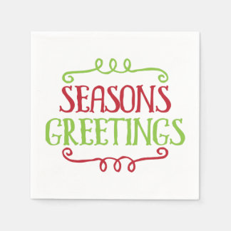 Seasons Greetings Christmas Holiday Napkin Disposable Napkin