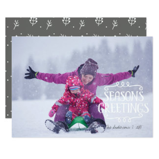 Season's Greetings Christmas Holiday Photo Card