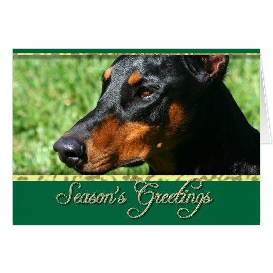 Season's greetings Doberman Pinscher card