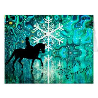 Season's Greetings Dressage Horse Winter Holiday Card