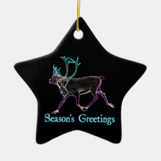 Season's Greetings - Electric Caribou Ceramic Ornament