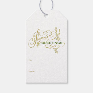 Season's Greetings Elegant Flourish Holiday II Gift Tags