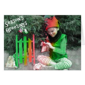 Season's Greetings Elf Card
