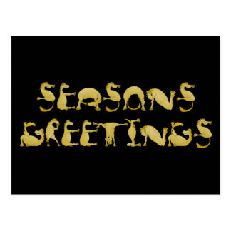 Seasons greetings flexi pony postcard