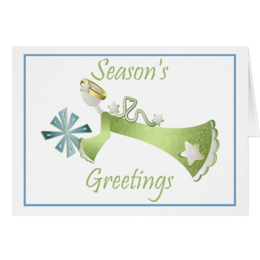 Season's Greetings (flying angel) Greeting Card