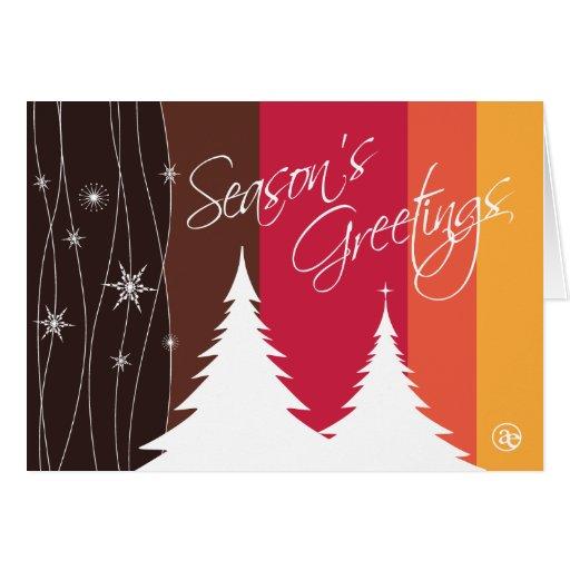 Season's Greetings Folded Holiday Card