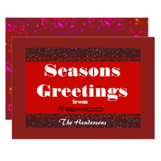 Seasons Greetings from (Any Resort) - Card