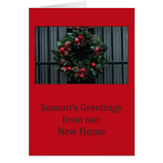 Season's Greetings from our New Home Card