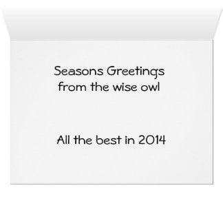 Seasons Greetings from the wise owl Card