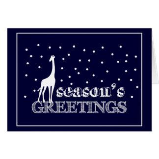 Seasons Greetings Giraffe Card