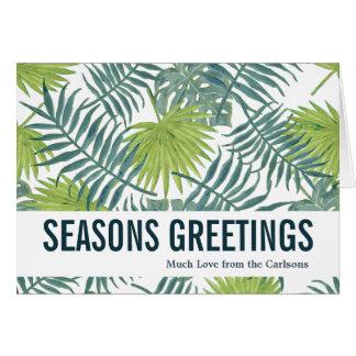 Seasons Greetings Greeting Card Custom Template