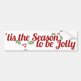 Seasons Greetings Happy Holidays Bumper Sticker