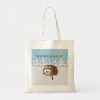 Season's Greetings Hedgehog Tote Bag