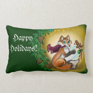 Season's Greetings~ Holiday gift Fox pillow