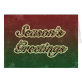 Season's Greetings in Text Card