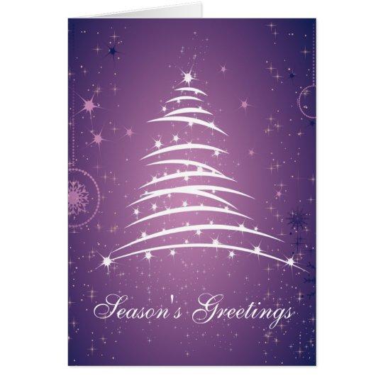 Season's Greetings Line Christmas Tree 2 Card