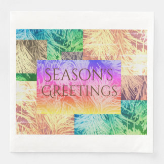 Season's Greetings modern design Paper Napkin