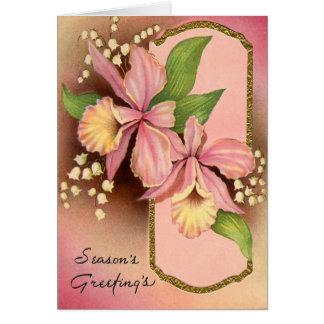 Seasons Greetings Orchids Card