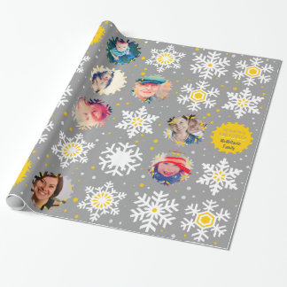 Season's Greetings Photo Christmas Gift Wrapper Wrapping Paper