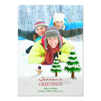 Season's Greetings Photo Flat Card