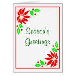 Season's Greeting's  (Poinsettias) Greeting Card